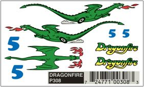 PINECAR DRY TRANSFER DECALS-DR
