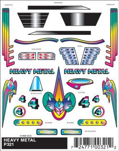 HEAVY METAL STICK-ON DECALS