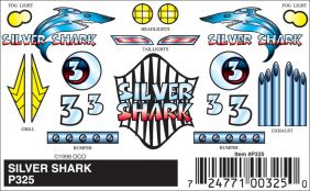 SILVER SHARK STICK-ON DECALS