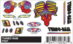 TURBO RAM STICK-ON DECAL