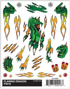 FLAMING DRAGON DRY TRANSFER DE
