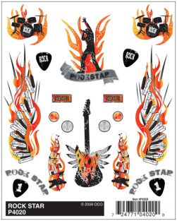 ROCK STAR DRY TRANSFER DECALS