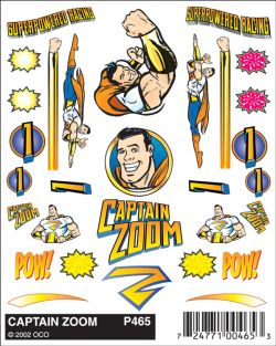 CAPTAIN ZOOM DECALS