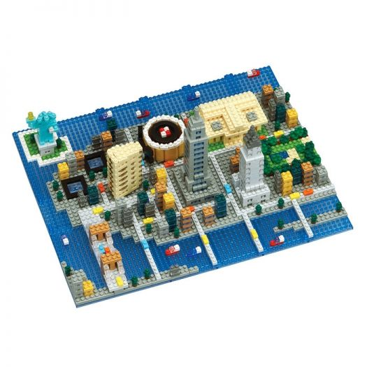 Nanoblock New York NB-033 with nanoblock special tweezers
